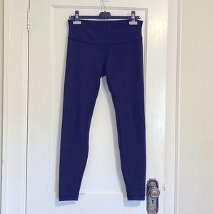 Lululemon navy blue leggings size 8